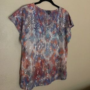 ROZ & ALI SEQUINED TOP