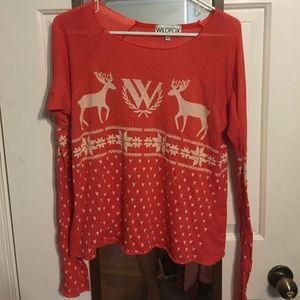 Wildfox Couture Fairaisle reindeer top