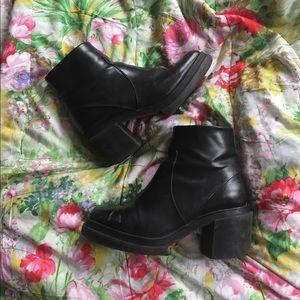 Zara chunky black boots