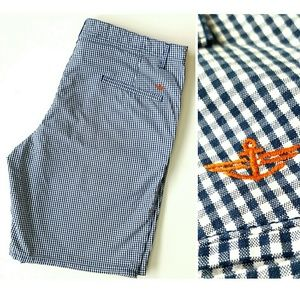 Dockers Other - Dockers Gingham Blue/White Shorts size 38