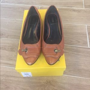 Fendi Shoes - Fendi leather flats with box