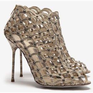 Sergio Rossi Shoes - Authentic Sergio Rossi Mermaid Cage OpenToe Bootie