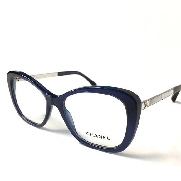 cd5778bbd82 CHANEL Accessories - CHANEL Eyeglasses Blue Pearl Sides