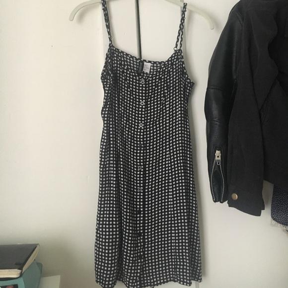 f79c56fadbe2c H&M Dresses | Hm Gingham Button Front Dress | Poshmark