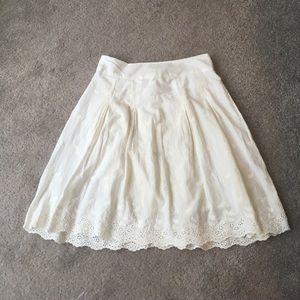 Dresses & Skirts - White eyelet skirt
