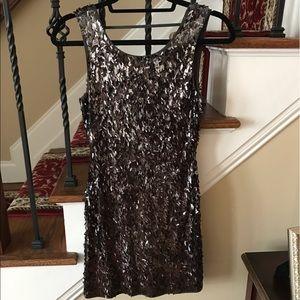 Express Gray Sequin Dress