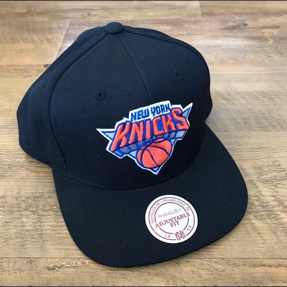 bd96f429fde Mitchell   Ness NBA Snapback Hat -- NY Knicks
