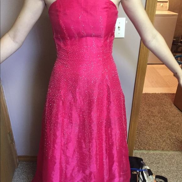 Morgan & Co. Dresses | Pink Beaded Prom Dress | Poshmark