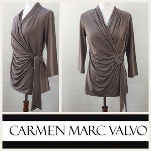 Carmen Marc Valvo Tops - Carmen Marc Valvo wrap style blouse