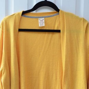 Faded Glory Mustard Yellow Cardigan