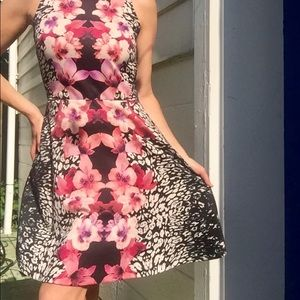 H&M Figure Flattering Vibrant Flowered Dress