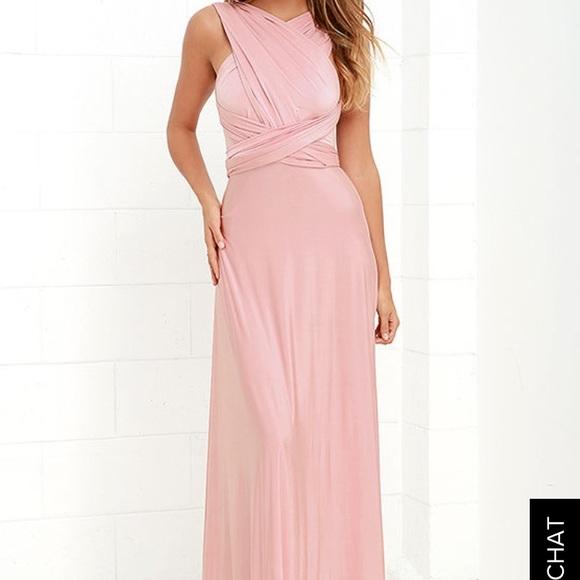 31 off dresses skirts lulu 39 s multi wrap dress blush for Online stores like lulus