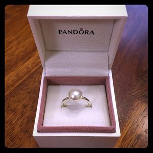 Pandora Jewelry - Pandora Luminous Droplet White Crystal Pearl Ring