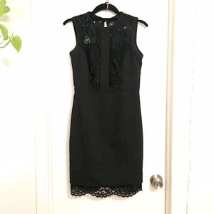Black and lace work or party dress 🖤
