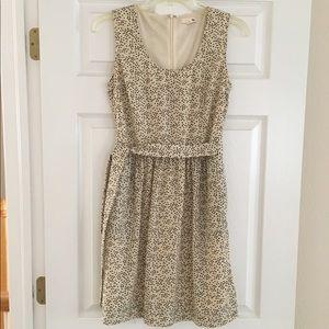 TULLE  Cream/Ivory Sleeveless Lined Dress, XS