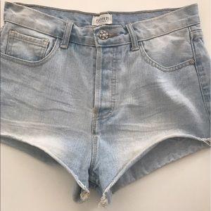 Forever21 high waisted denim shorts