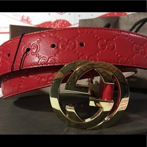 Gucci Other - 💕 Authetic Men Gucci Belt Red Guccisima