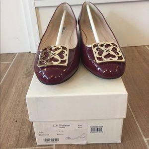 LK Bennett Shoes - L.K Bennett Patent Leather Gold Emblem Flats