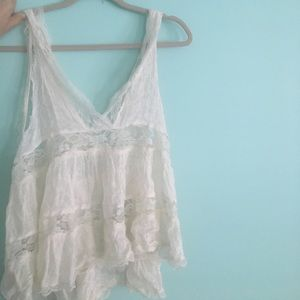Stunning free people intimates lace tank. Size M
