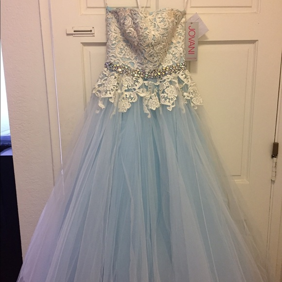 Jovani Dresses | Ice Blue Ball Gown | Poshmark