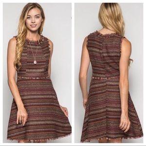 She and Sky Dresses & Skirts - NWT She and Sky Fall Tweed Dress - Brown
