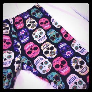 Pants - Sugar Skull Leggings/Activewear