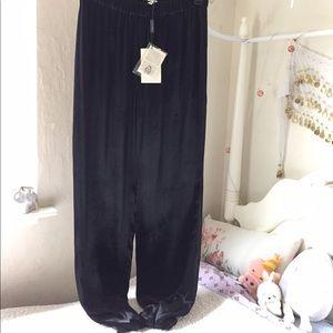Marina Rinaldi Pants - • nwt marina rinaldi silk velvet pants •