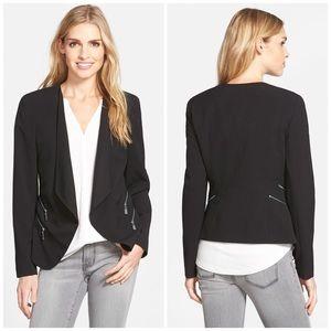 Vince Camuto Jackets & Blazers - NWT Vince Camuto Zipper Drape Front Black Blazer