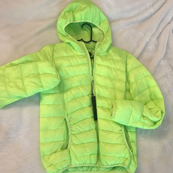 320a072f9 Neon Green Light Puffer Jacket
