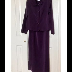 NEW LONG DRESS & JACKET IN DARK PLUM COLOR