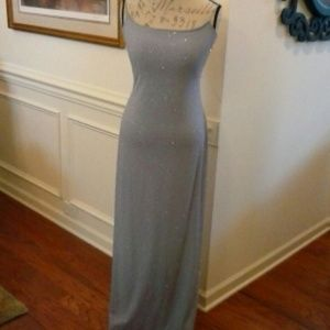City Triangles Formal Long Gown w/Bling Medium