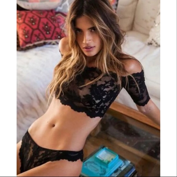 2fb20f924e ❤️Sexy Black Stretch Lace Two Piece Lingerie Set❤️ NWT