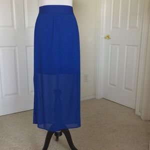 LOFT Dresses & Skirts - Loft Blue Maxi Skirt 🎉HP🎉