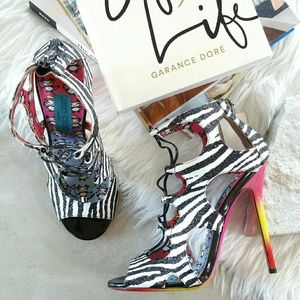 Jimmy Choo Shoes - JIMMY CHOO Diffuse zebra print glitter