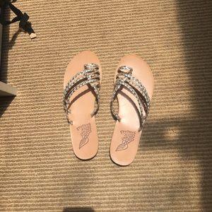Ancient Greek Sandals Shoes - Ancient Greek sandals metallic braided leather