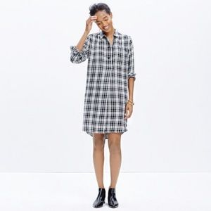 Madewell Dresses & Skirts - Madewell Latitude Dark Grey Plaid Shirtdress