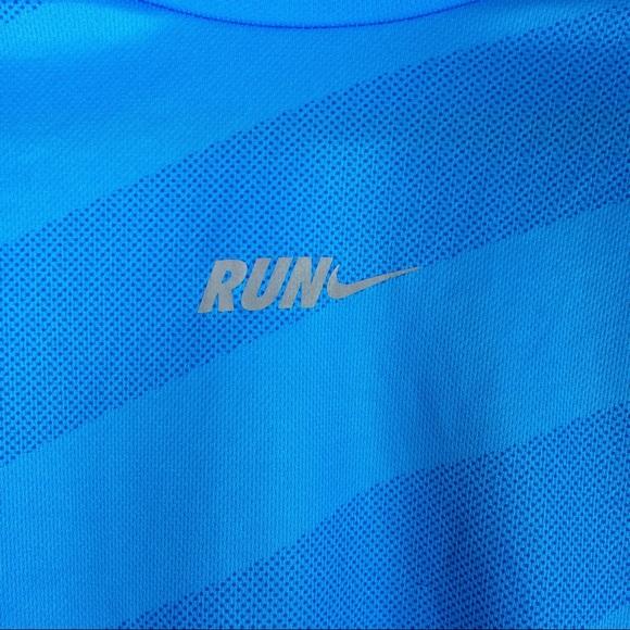 Nike Shirts - LAST CHANCE! Men's Nike run blue shirt