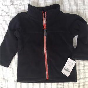 Carter's Other - Carters 12 mo black fleece zip-up jacket baby boy