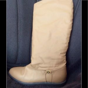 Eitienne Aigner Taupe Knee Boots WATER RESISTANT