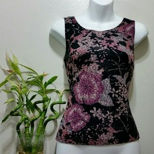 MSK Tops - Floral shell by msk