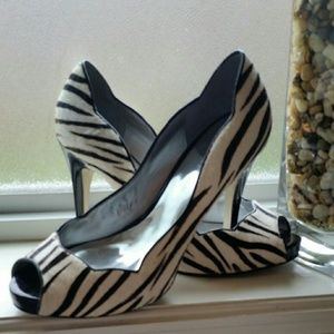 Guess Shoes - Zebra peep toes by guess