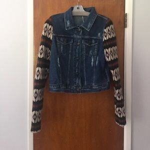 Free People Denim/Knit Jacket