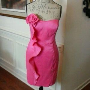 Jessica Simpson  Pink Strapless Cocktail Dress 8