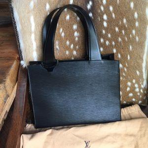 Authentic black Epi Louis Vuitton bag