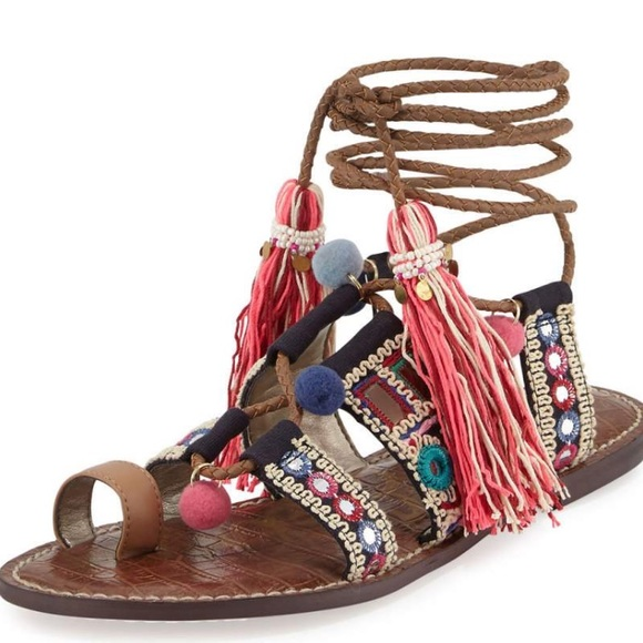 575751a6bf7 sam edelman gretchen embroidered flat sandal