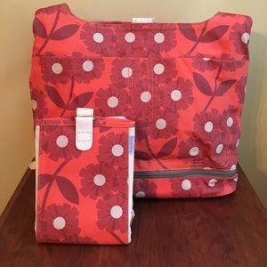 Orla Kiely Handbags - Orla Kiely Daisy Diaper Bag with Changing Pad