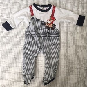 Classic Other - Cowboy baby bodysuit 0-3 mo striped western detail
