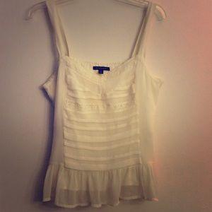 AEO Ruffle Summer Feminine Dainty Shirt Blouse