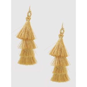 Gold Layered Tassel Earrings