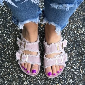 Threads & Trends Shoes - 🌸Distressed Dusty Pink Birk Sandals